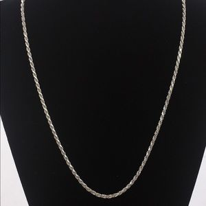 Jewelry - Sterling Silver .925 Italy Classic Rope Chain